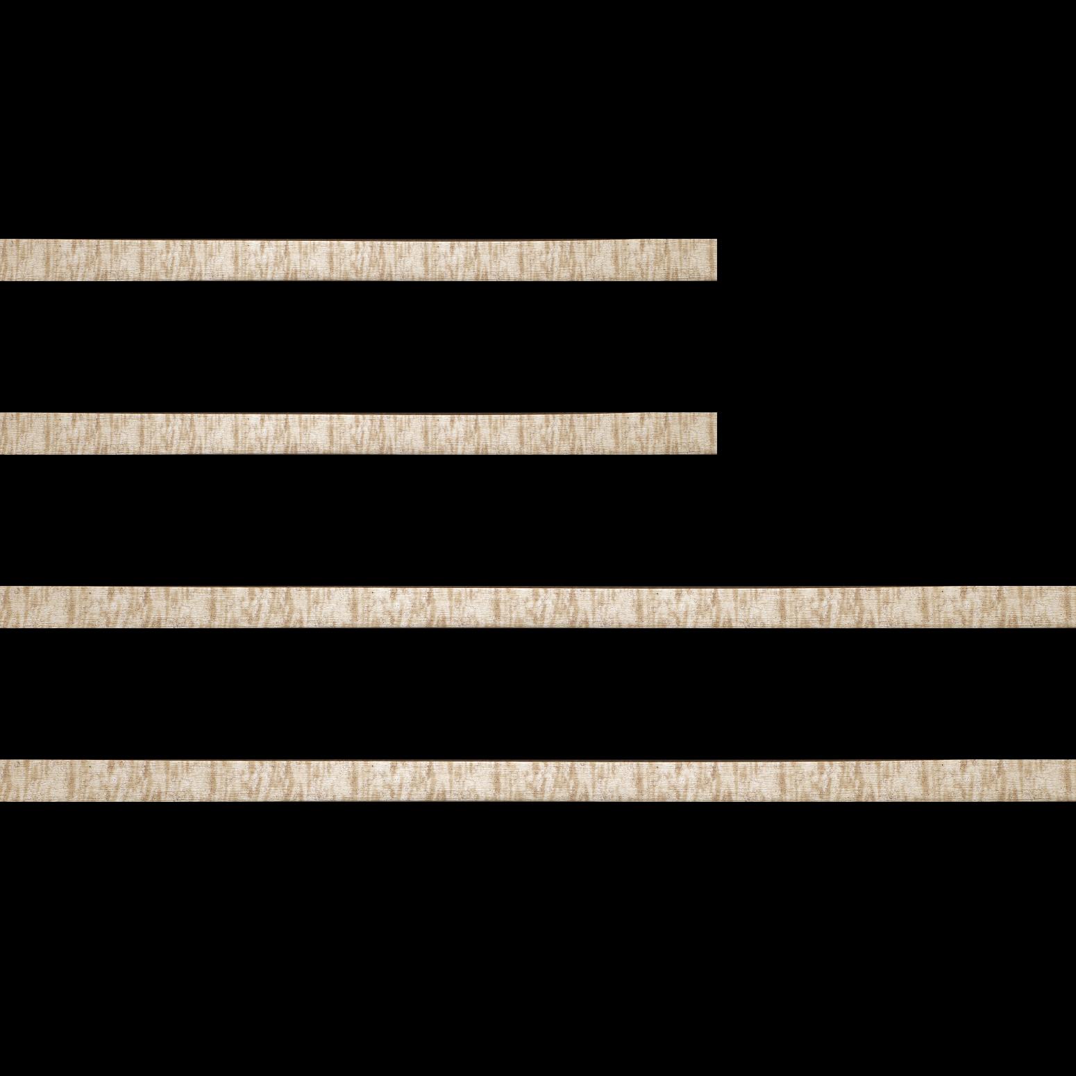 Baguette bois profil plat effet cube largeur 2cm couleur champagne