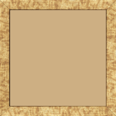 Cadre bois profil plat effet cube largeur 2cm couleur or - 28x34