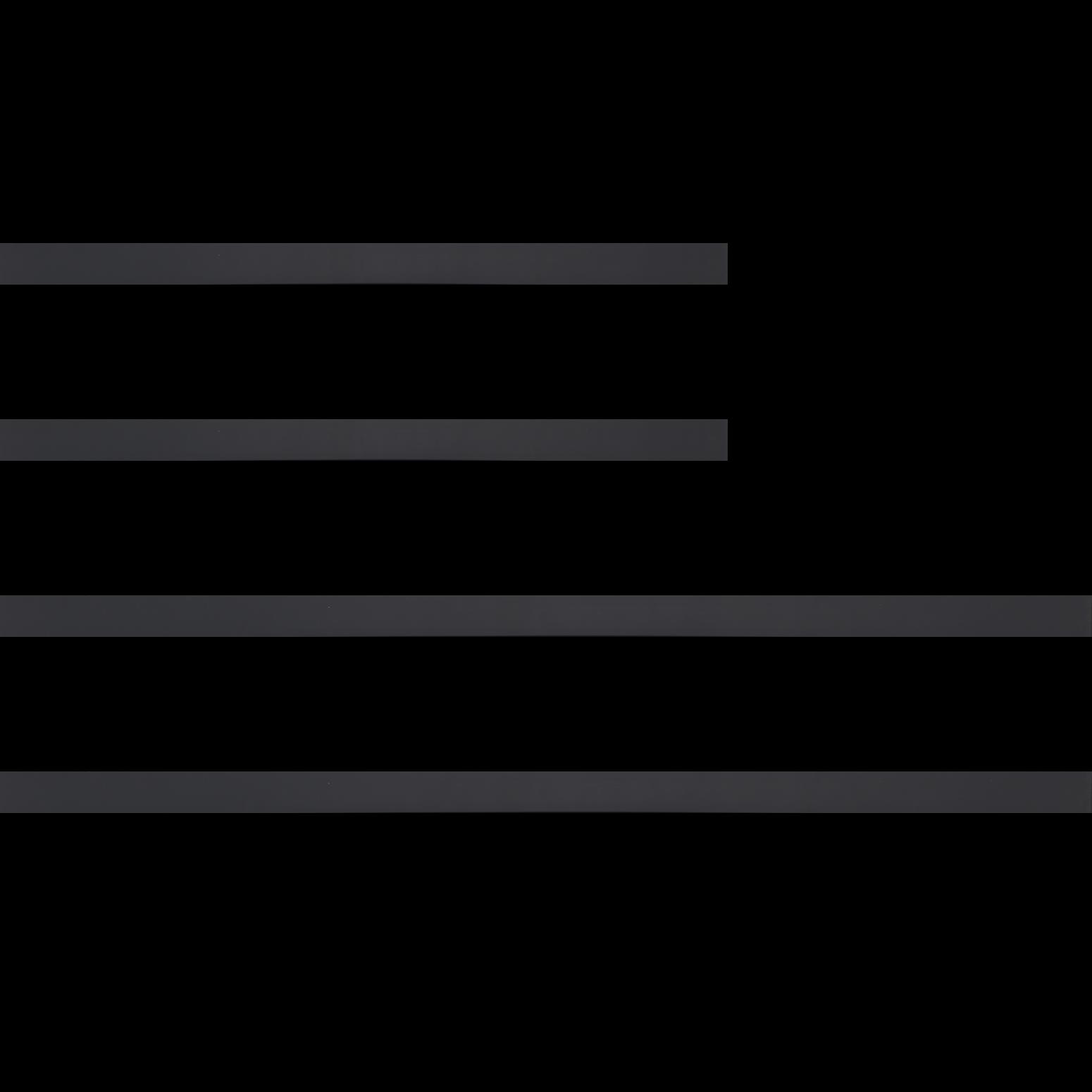 Baguette bois profil plat effet cube largeur 2cm couleur noir satiné
