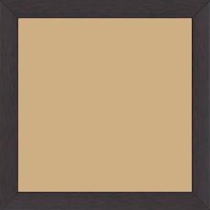 Cadre bois profil plat effet cube largeur 2cm couleur ton bois palissandre - 15x20