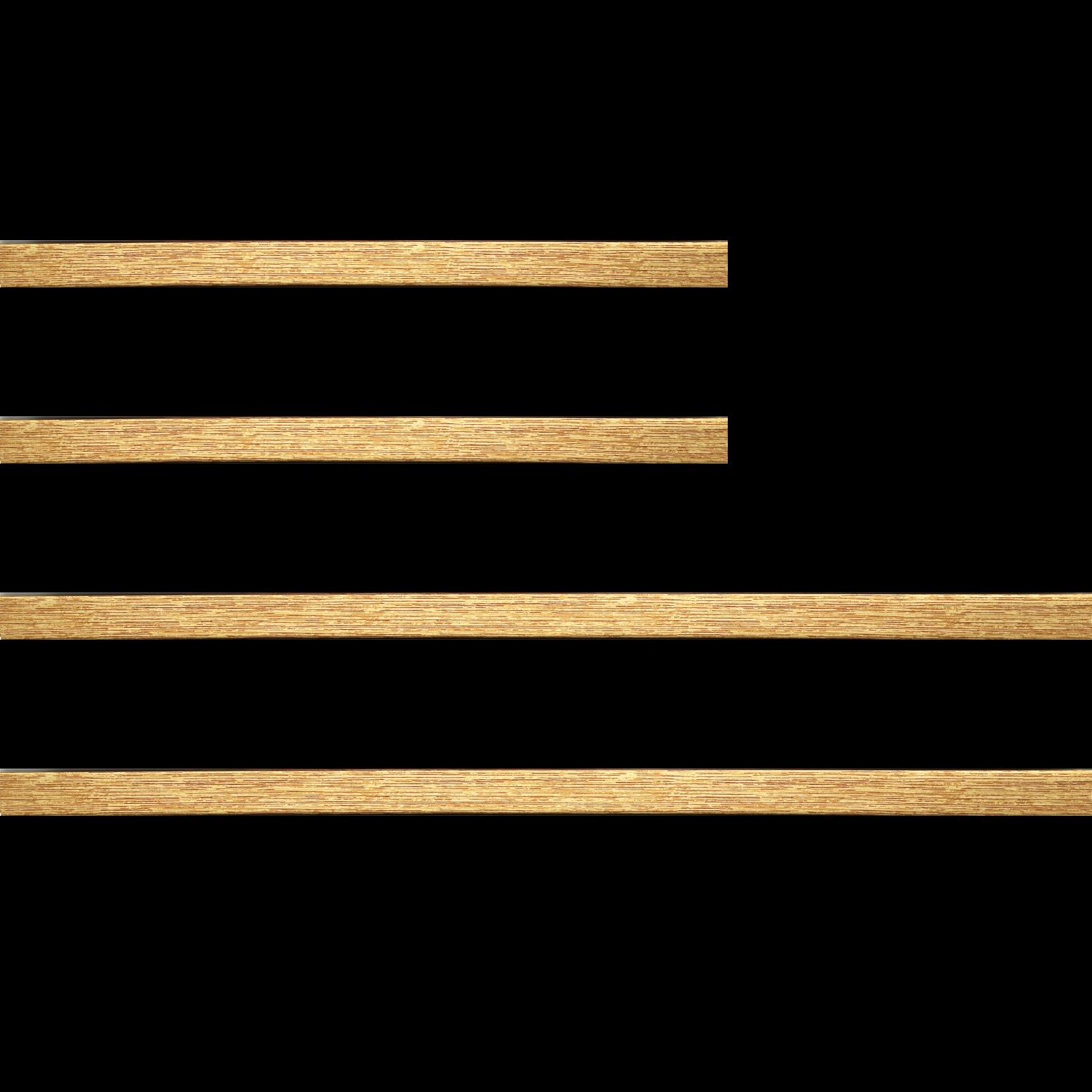 Baguette bois profil plat largeur 2cm hauteur 3.2cm couleur or
