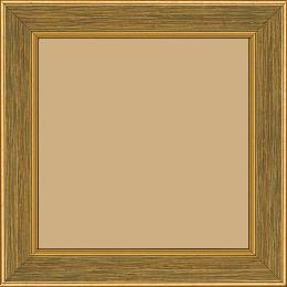 Cadre bois profil plat largeur 3.5cm couleur or fond vert filet or - 40x40