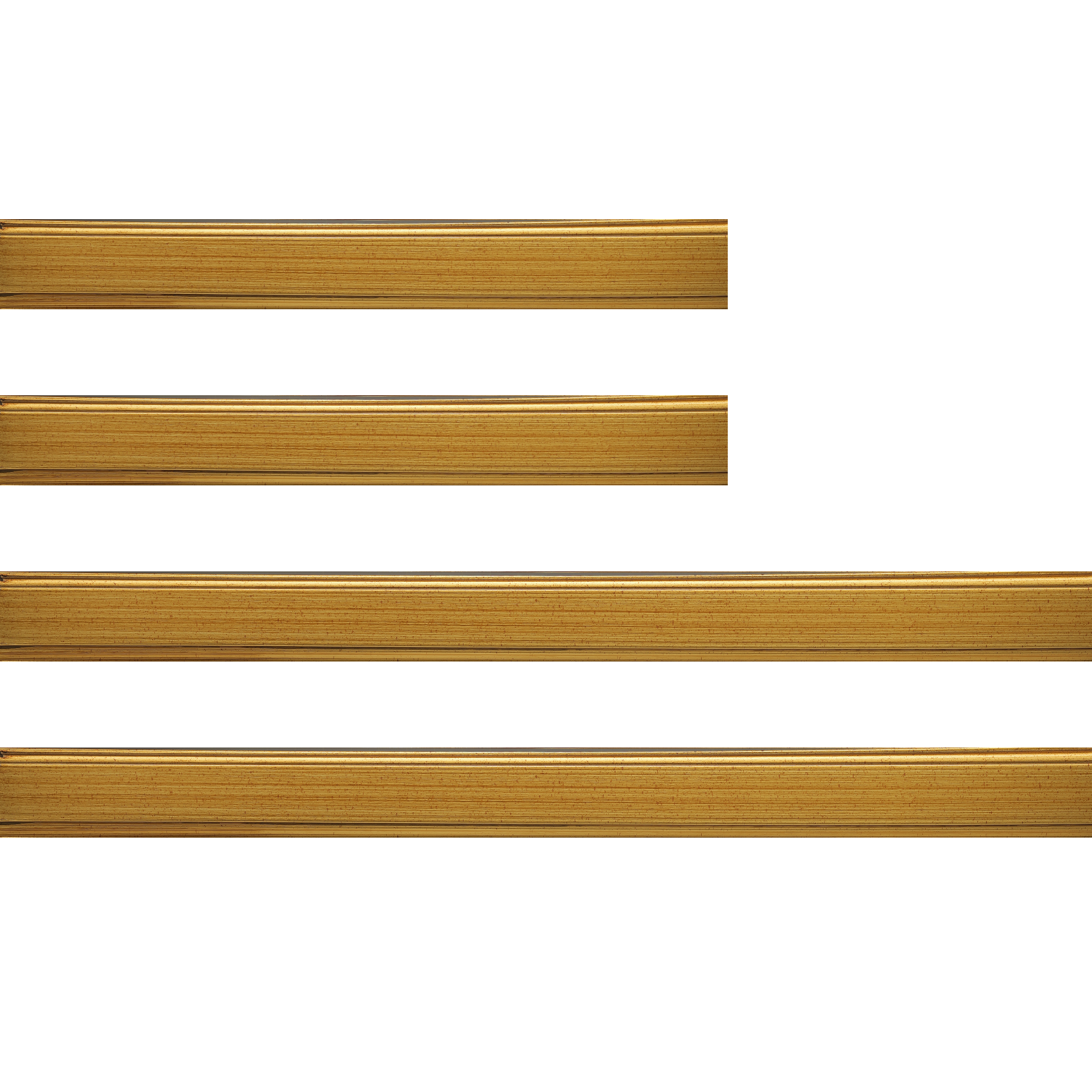 Baguette bois profil plat largeur 3.5cm couleur or filet or