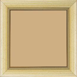Cadre bois profil plat largeur 3.5cm couleur argent chaud filet argent - 50x75
