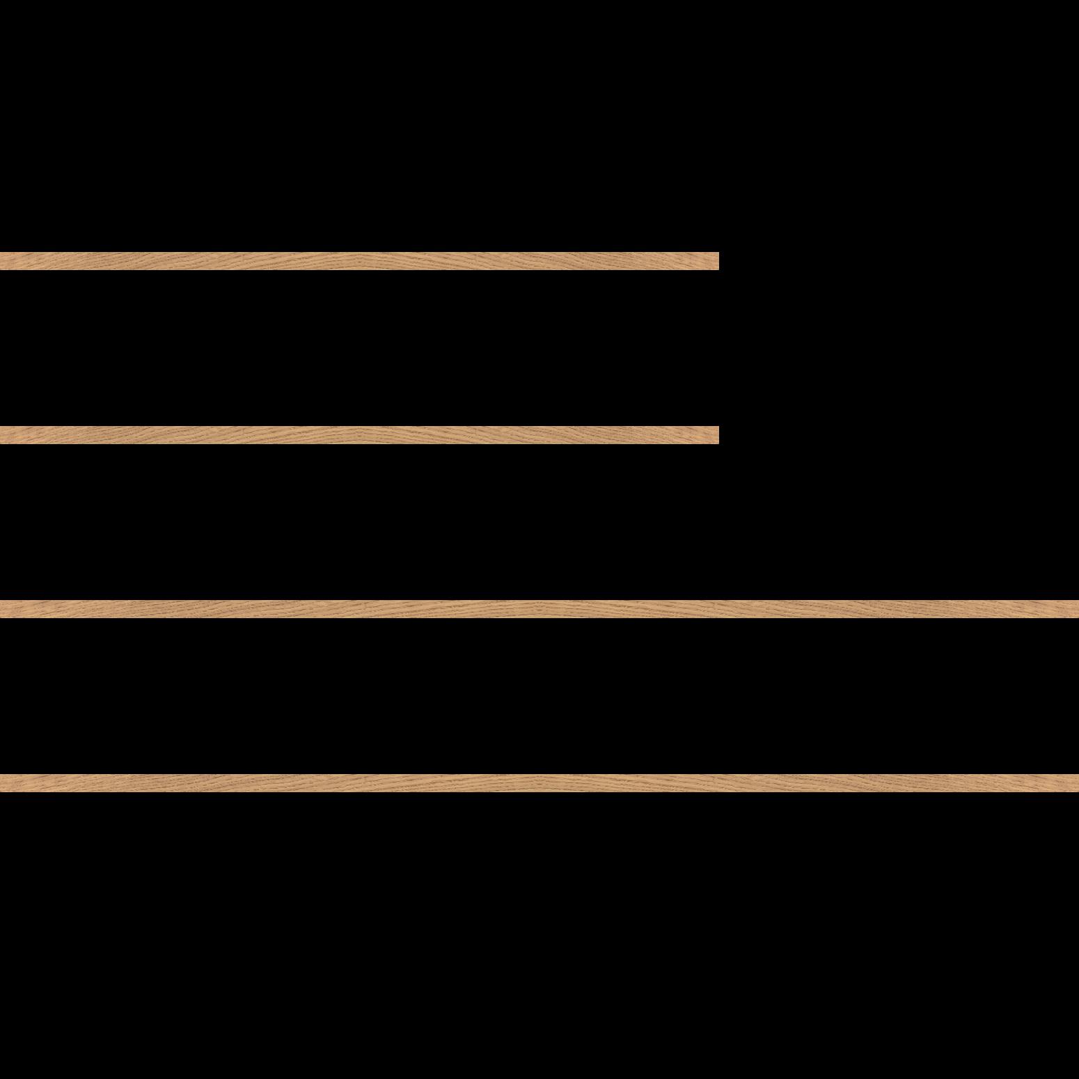 Baguette bois profil plat largeur 1.5cm chêne massif naturel