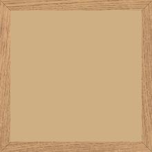Cadre bois profil plat largeur 1.5cm chene massif naturel (non vernis) - 15x20
