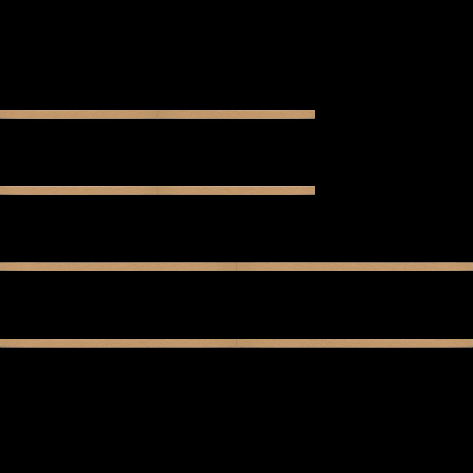 Baguette bois profil plat effet cube largeur 2cm couleur naturel satiné