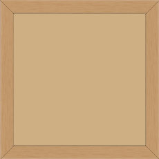 Cadre bois profil plat effet cube largeur 2cm couleur naturel satiné - 20x30
