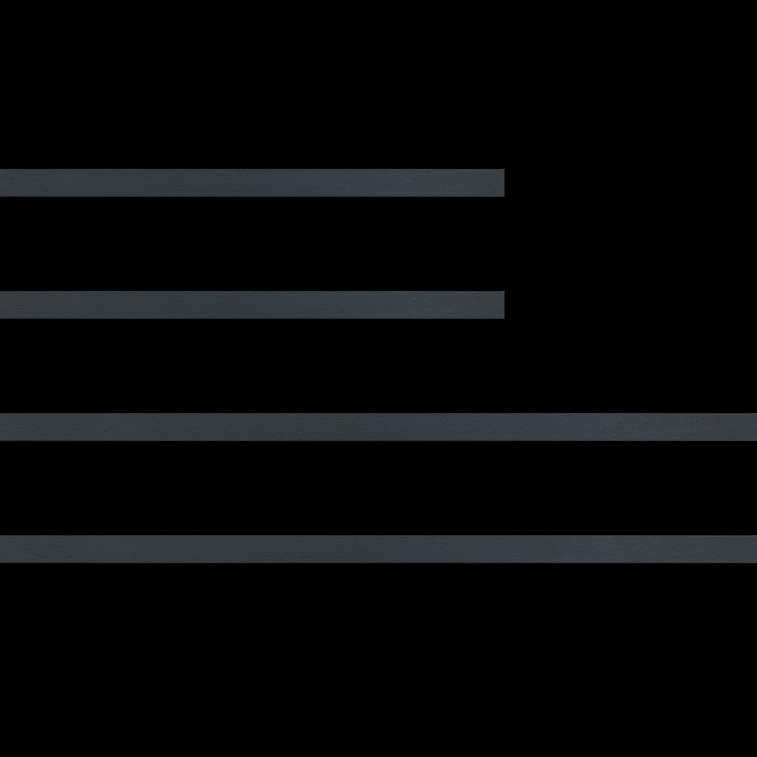 Baguette bois profil plat largeur 2cm hauteur 3.3cm couleur gris foncé satiné