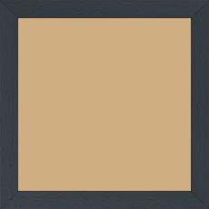 Cadre bois profil plat largeur 2cm hauteur 3.3cm couleur gris foncé satiné - 50x60