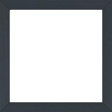 Cadre bois profil plat largeur 2cm hauteur 3.3cm couleur gris foncé satiné (aussi appelé cache clou) - 55x33
