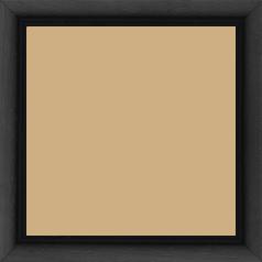 Cadre bois profil bombé largeur 2.4cm couleur noir satiné - 60x60