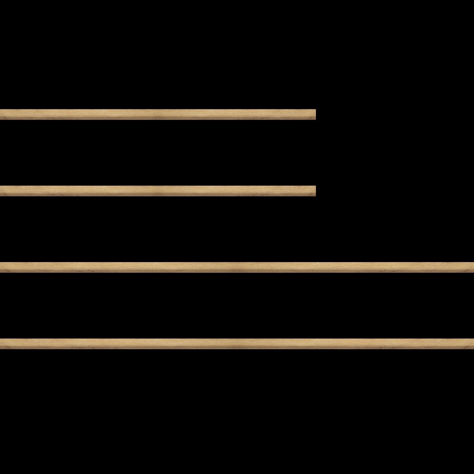 Baguette bois profil bombé largeur 2.4cm couleur naturel satiné