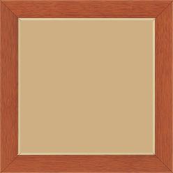 Cadre bois profil plat largeur 2.9cm couleur merisier filet or - 80x100