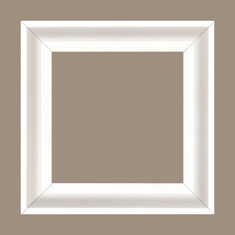 Caisse bois caisse américaine largeur 4.5cm blanc satiné (spécialement concu pour les supports rigides ne necessitant pas de protection verre : aluminium, dibon , pvc etc...le sujet se colle sur le nez de feuillure du cadre ) profil en u - 15x20