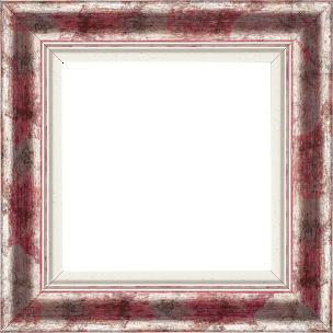 Cadre bois profil incurvé largeur 5.7cm de couleur rose fushia fond argent marie louise blanche mouchetée filet argent intégré - 61x46