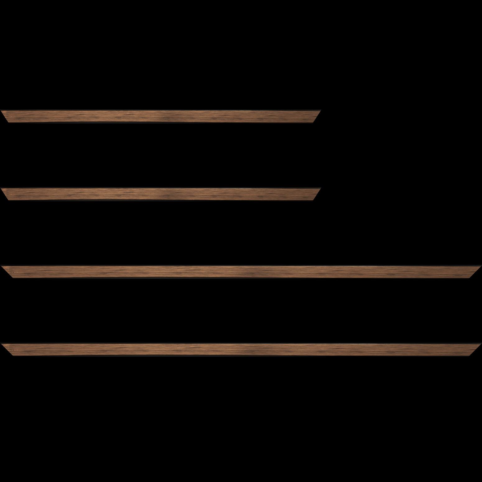 Baguette bois profil plat largeur 1.5cm couleur cuivre foncé