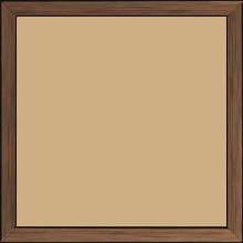 Cadre bois profil plat largeur 1.5cm couleur cuivre foncé - 40x60