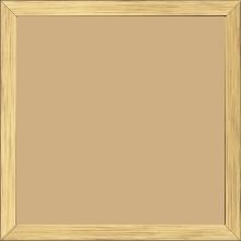Cadre bois profil plat largeur 1.5cm couleur or - 28x34