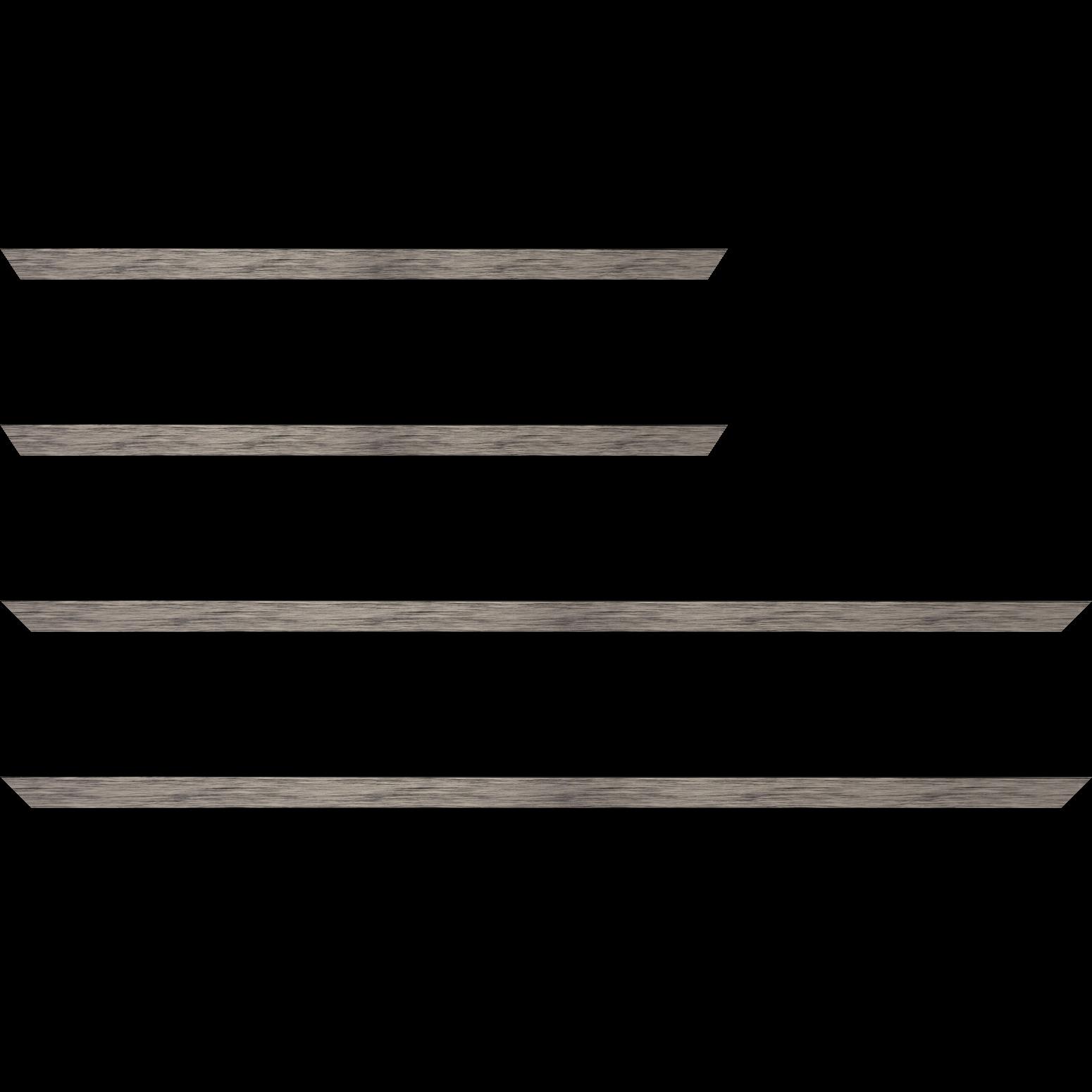 Baguette bois profil plat largeur 1.5cm couleur plomb