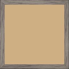 Cadre bois profil plat largeur 1.5cm couleur plomb - 40x40