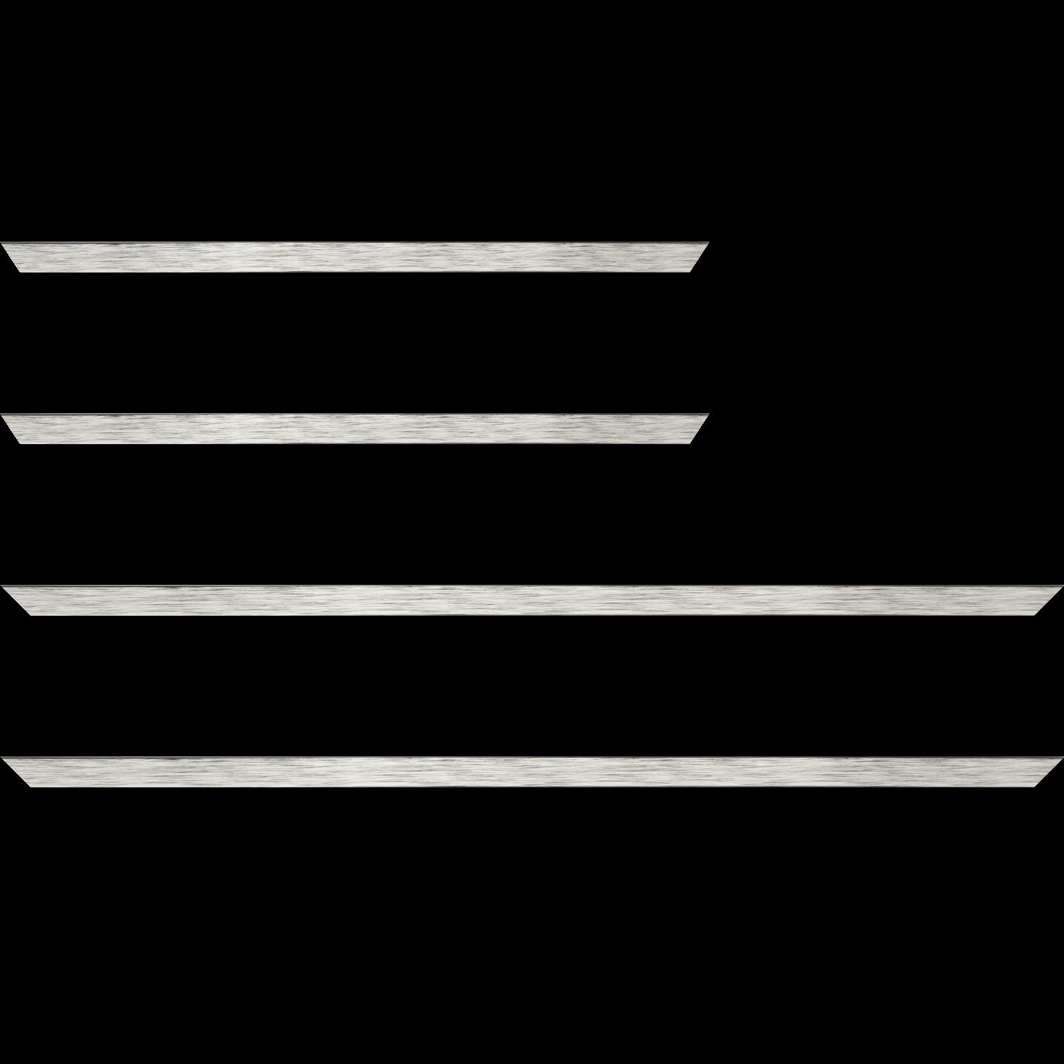 Baguette bois profil plat largeur 1.5cm couleur argent