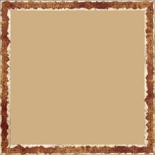 Cadre bois profil plat largeur 1.5cm couleur bordeaux fond or ,bord or déstructuré ( extérieur du cadre ton bois marron) - 40x40