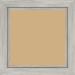 Cadre bois profil plat largeur 3.3cm couleur argent filet argent - 50x75