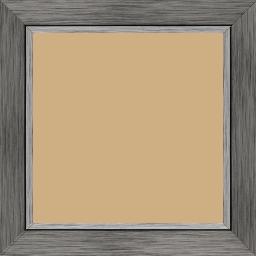 Cadre bois profil plat largeur 3.3cm couleur plomb filet argent - 40x40