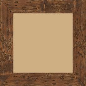 Cadre bois profil plat largeur 4.3cm couleur marron foncé finition aspect vieilli antique - 84.1x118.9