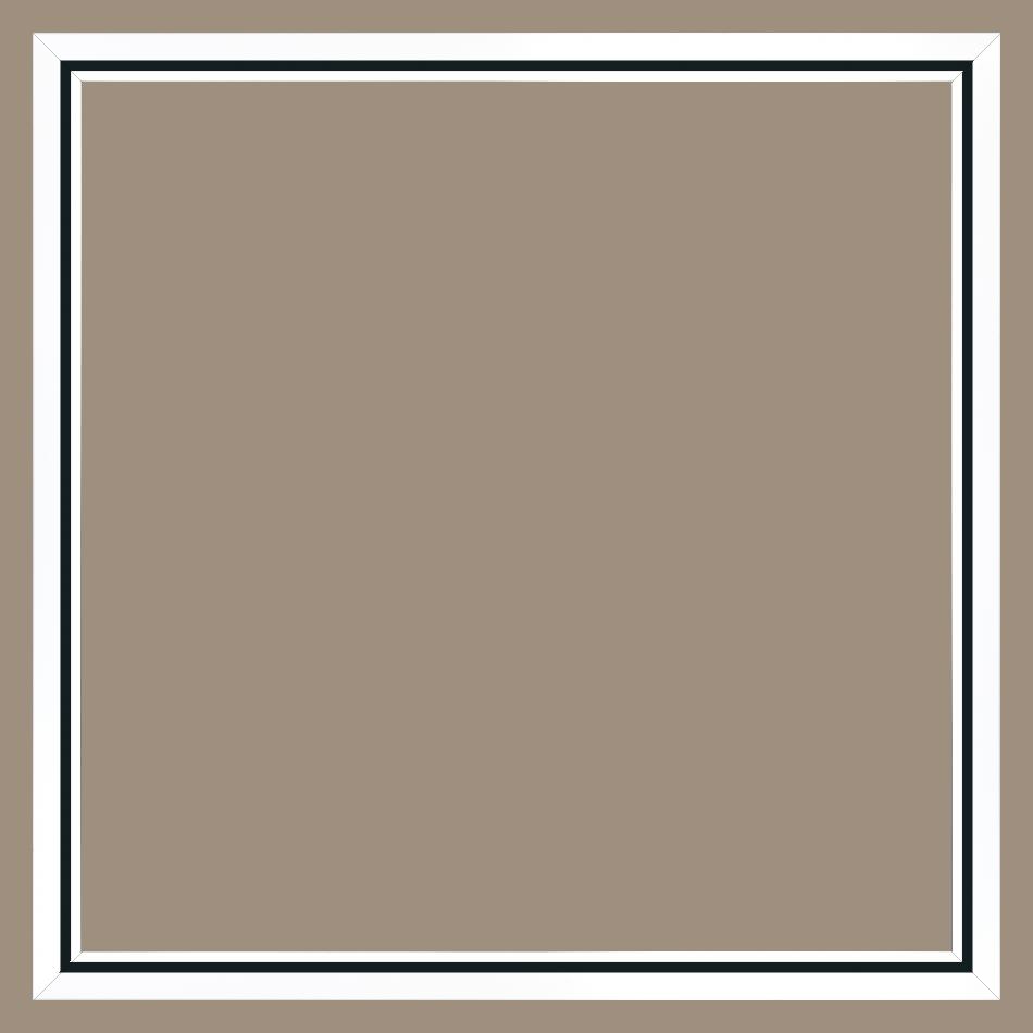 cadre pour peinture pour peinture bois noir blanc 80x80 pas cher