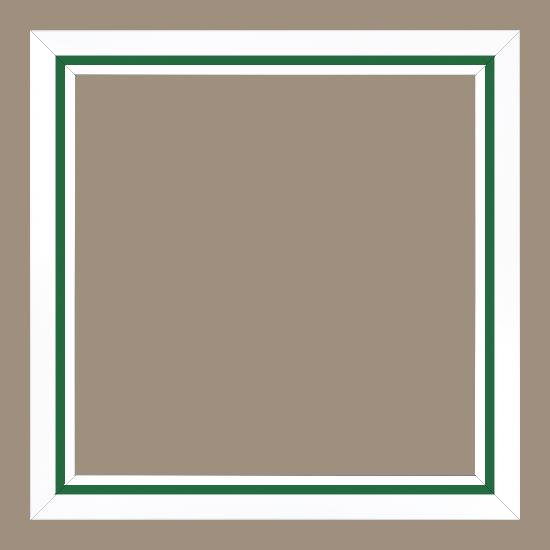 cadre pour peinture pour peinture bois vert blanc 40x40. Black Bedroom Furniture Sets. Home Design Ideas