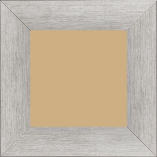 Cadre bois profil plat largeur 6cm couleur argent contemporain satiné haut de gamme - 18x24