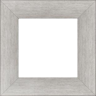 Cadre bois profil plat largeur 6cm couleur argent contemporain satiné haut de gamme - 50x50