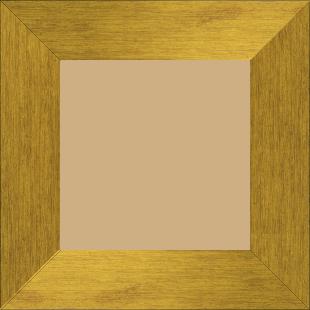 Cadre bois profil plat largeur 6cm couleur or contemporain satiné haut de gamme - 59.4x84.1