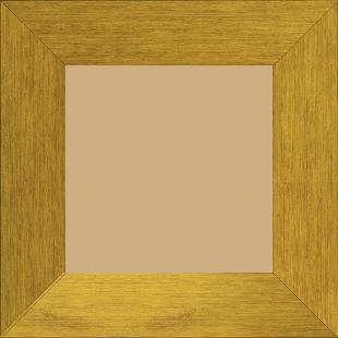 Cadre bois profil plat largeur 6cm couleur or contemporain satiné haut de gamme