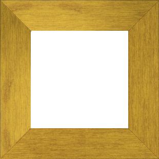 Cadre bois profil plat largeur 6cm couleur or contemporain satiné haut de gamme - 50x50