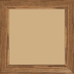 Cadre bois profil inversé largeur 3.2cm sur pin teinté noyer - 30x30