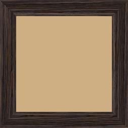 Cadre bois profil inversé largeur 3.2cm sur pin teinté wengué - 59.4x84.1