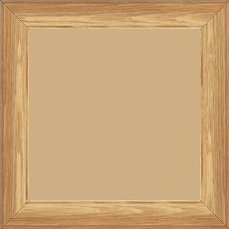 Cadre bois profil inversé largeur 3.2cm sur pin teinté chêne - 20x30