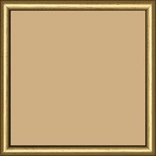 Cadre bois profil demi rond largeur 1.5cm couleur or - 21x29.7