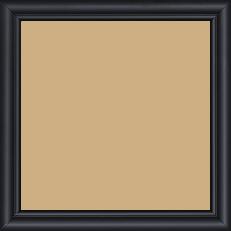 Cadre bois profil arrondi largeur 2.1cm couleur noir mat filet noir - 60x60