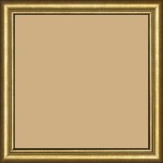 Cadre bois profil arrondi largeur 2.1cm couleur or filet or - 28x34