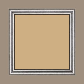 Cadre bois profil arrondi largeur 2.1cm couleur plomb filet plomb - 15x20