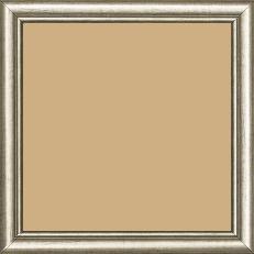 Cadre bois profil arrondi largeur 2.1cm couleur champagne filet champagne - 15x20