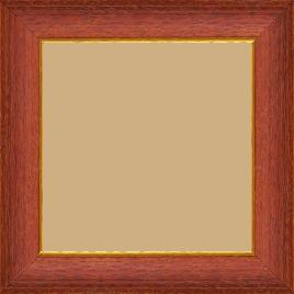 Cadre bois profil incurvé largeur 3.9cm couleur rouge cerise satiné filet or - 30x40