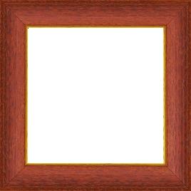Cadre bois profil incurvé largeur 3.9cm couleur rouge cerise satiné filet or - 61x46