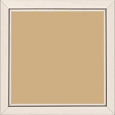 Cadre bois profil bombé largeur 2.4cm couleur crème satiné filet noir - 15x20