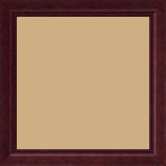 Cadre bois profil bombé largeur 2.4cm couleur bordeaux lie de vin filet noir - 15x20