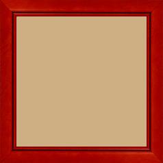Cadre bois profil bombé largeur 2.4cm couleur rouge cerise satiné filet noir - 60x80